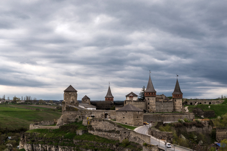 Old Castle in the Ancient City of Kamyanets-Podilsky, Ukraine