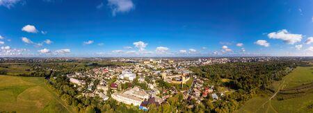 Aerial view of Beautiful Panorama The Lubart Castle in Lutsk.