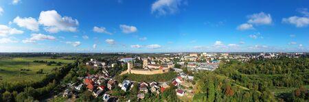 Aerial Panorama view of Lutsk Castle in Ukraine.