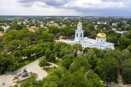 Cathedral of the Protection of the Holy Virgin, Izmail, aerial view