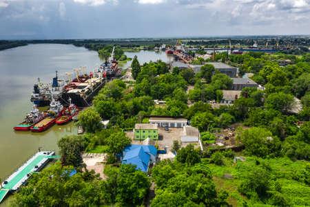 Danube Ship Repair in Izmail city 写真素材