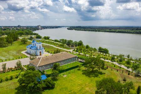Holy Assumption Church along the Danube Embankment in Izmail 写真素材
