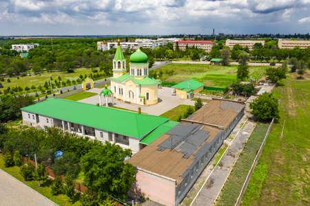 St. Nicholas Church in Izmail aerial view.
