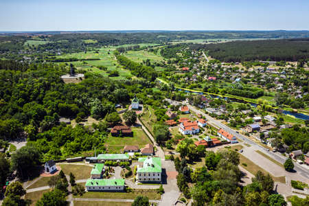 Chigirin - a city with a rich Cossack past aerial view.
