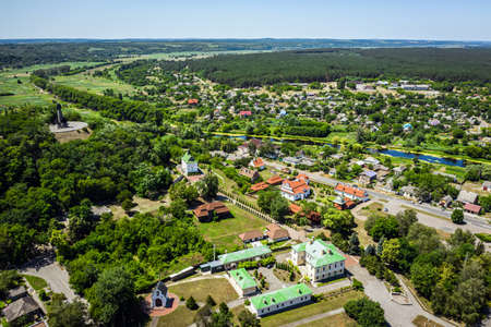 Chigirin city - the hetmans residence of Bohdan Khmelnitsky aerial view.