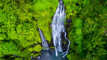 Wonderful Tropical Waterfall in Bali, Indonesia Stock fotó