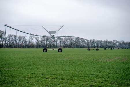 Irrigation system in an agricultural field