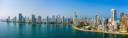 The Cartagena modern city aerial panorama view