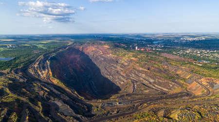 Iron Ore Quarry Open Mining Aerial View Zdjęcie Seryjne