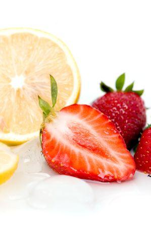 Fruits - strawberry and lemon