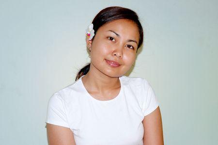 Meditation series - women smiling photo