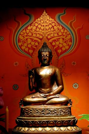 of siam: Budha statue - portrait format Stock Photo