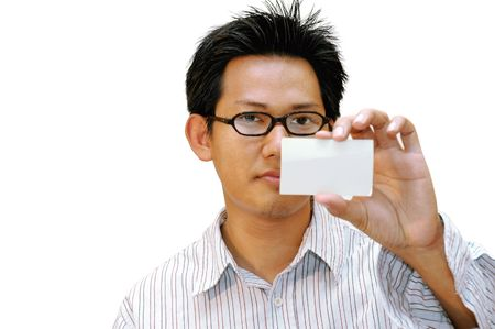 Men show his card Stock Photo - 286559