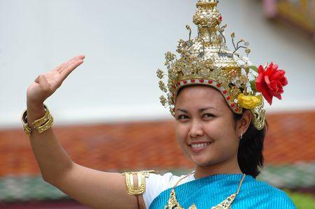 of siam: Bangkok women in tradisional dress