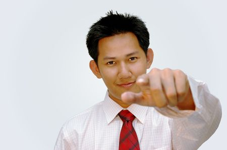 Corporate man - hand pointing Stock Photo - 286551