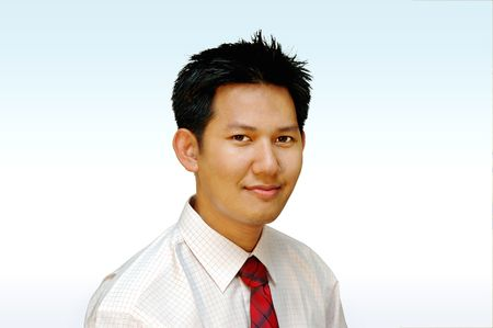 Executive male portrait - quarter side view