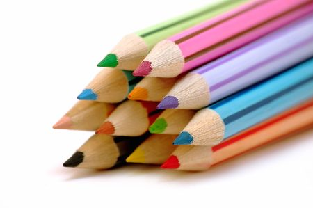 Group of color pencils photo