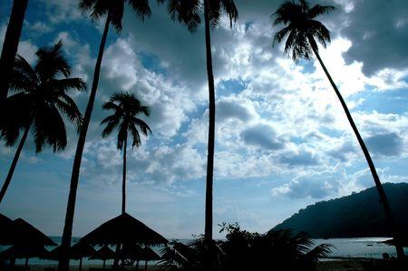 Peaceful evening - beach scenery Stock Photo