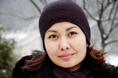 Winter women portrait