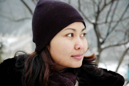 Winter women portrait photo