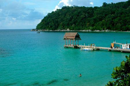 Jetty in Perhentian Island, Malaysia Stock Photo - 374310