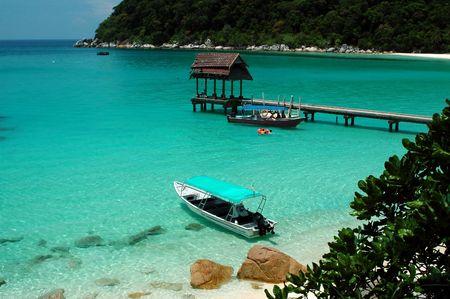 Beach scenery - Perhentian island, malaysia photo