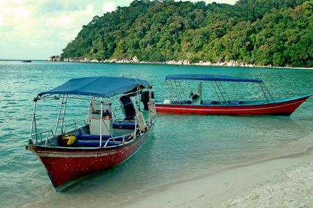 Boats at Perhentian island Stock Photo - 374295