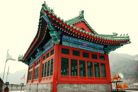 China architecture - Taken in The great Wall, Beijing, China photo