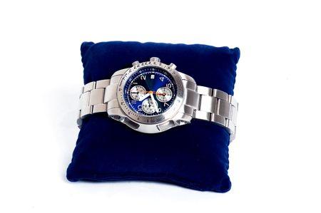 cronografo: Cron�grafo reloj en fondo blanco