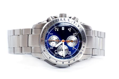 stell: Chronograph watch in white background