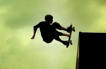 Skateboarding - on the air