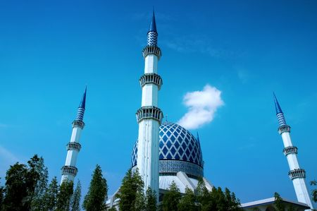 shah: Shah Alam Mosque Stock Photo