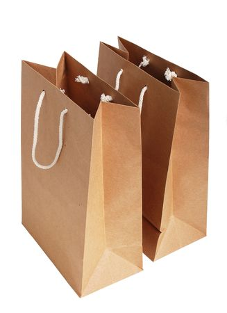 Recycle paper bags photo