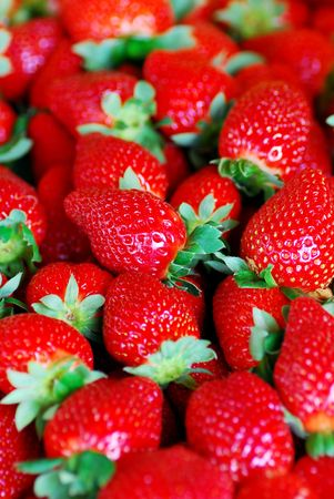rich flavor: strawberries