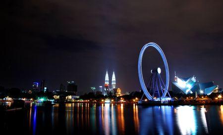 Eyes on Malaysia - Ferris wheels in Kualal Lumpur at the night scene