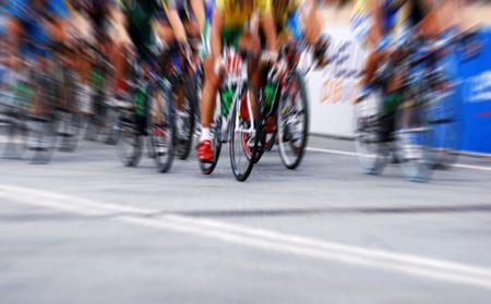 サイクリング レース (ズーム効果) 写真素材