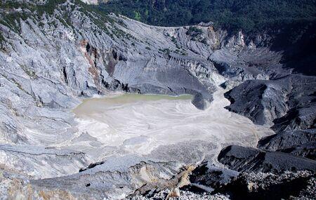 inactive: Inactive crater volcano taken in Bandung, Indonesia