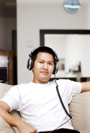 Relaxing with music Stock Photo - 1228938