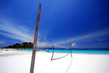 redang: Beach volleyball Stock Photo