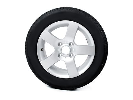 Tyre and rim Stock Photo