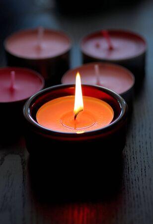 Aromatherapy candle Stock Photo