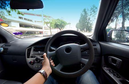 mpv: Driving Stock Photo