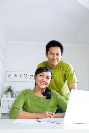 Couple working together