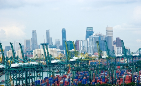 singapore building: Port of Singapore (Worlds second busy port)
