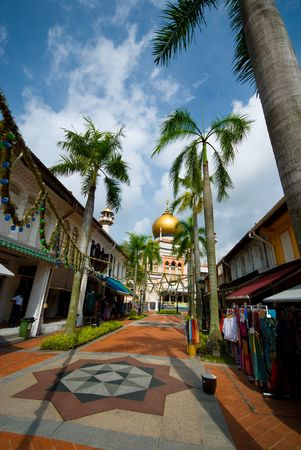 glam: Masjid Sultan at Muscat Street in Kampong Glam Stock Photo