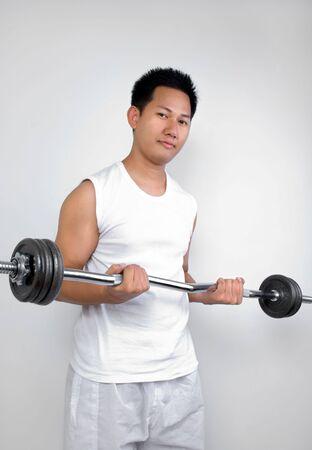 Man exercising  photo