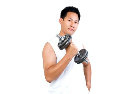 dumbells: Man Work out