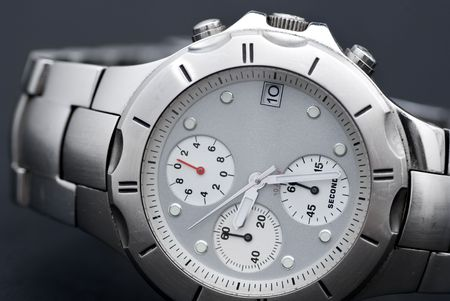 Stainless steel watch photo