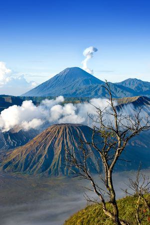Mount Bromo taken in East Java, Indonesia Stock Photo