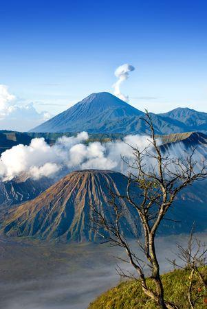Mount Bromo taken in East Java, Indonesia Stock Photo